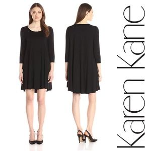 Karen Kane Women's 3/4 Sleeve Maggie Trapeze Dress